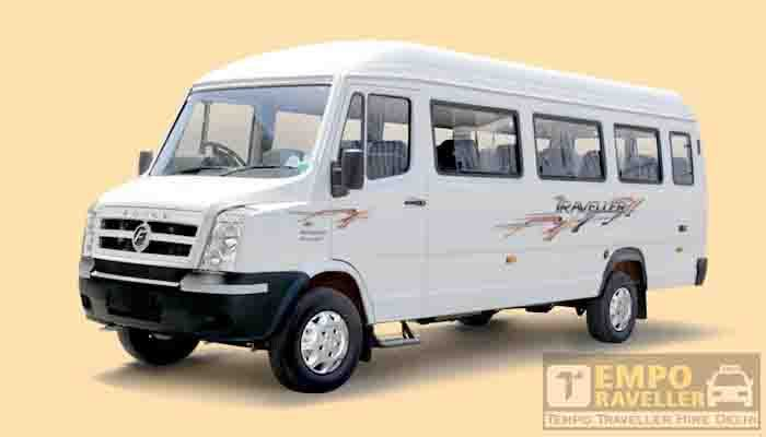 18 seater tempo traveller in udaipur
