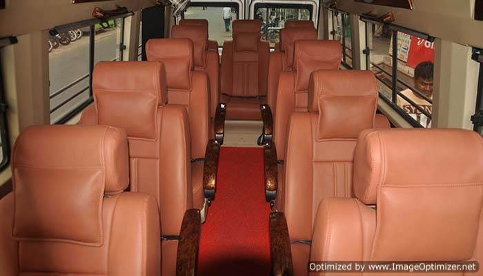 11 seater tempo traveller on rent
