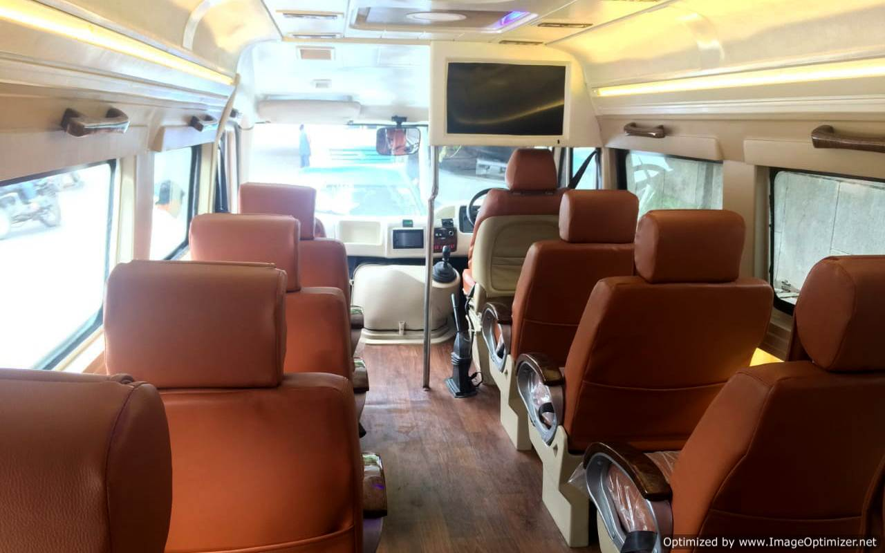 9 seater tempo traveller hire delhi